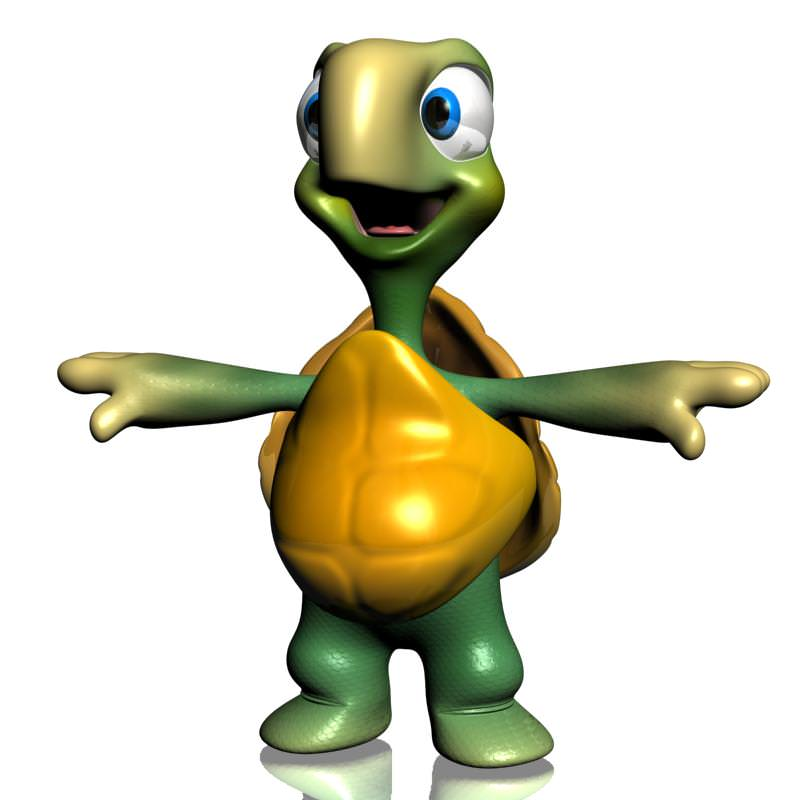 3D model Cartoon Turtle Rigged VR / AR / low-poly rigged ...