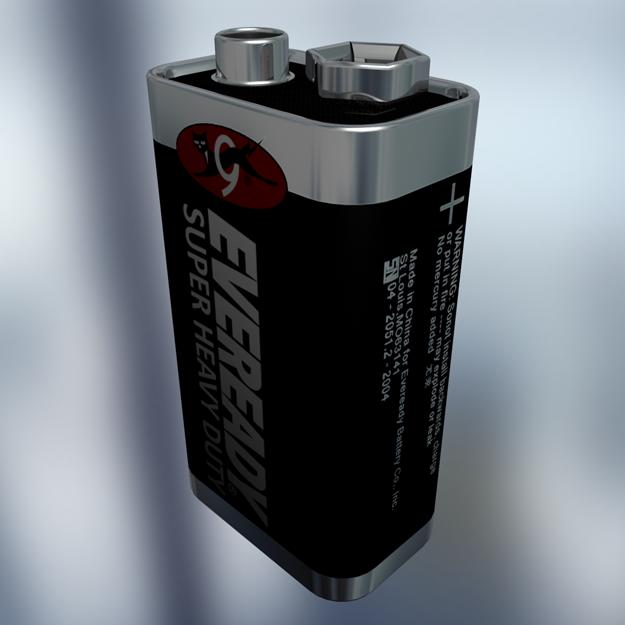Battery Size 9v Model