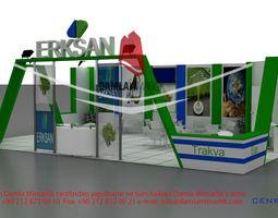 3d model erksan exhibition stand design