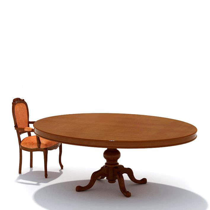 Wooden round dinning table 3d model for New model wooden dining table