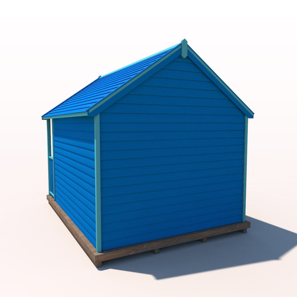 beach hut 3d model max obj 3ds fbx c4d ma mb