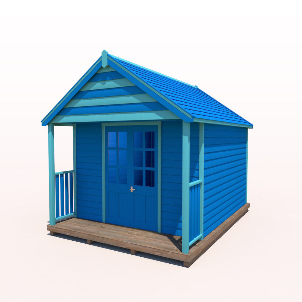 beach hut 3d model obj 3ds fbx c4d ma mb