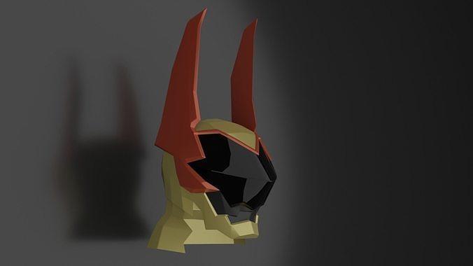 Low-Poly Terra Helmet - Kingdom Heart BBS