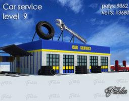3D model Car service level