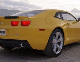 Yellow Sport Car 3D Model