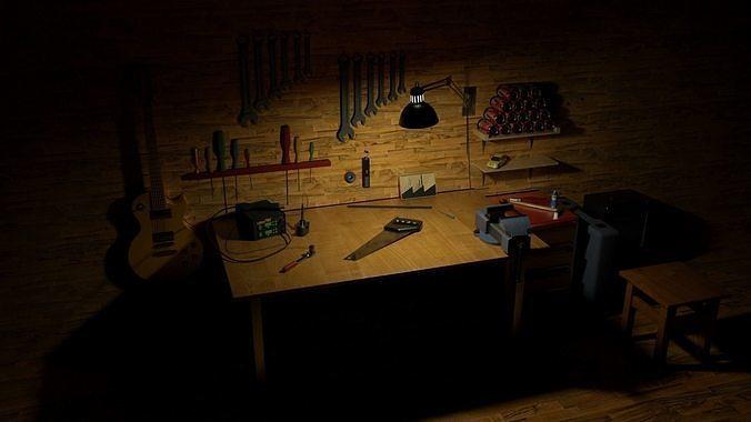 Tools room HQ interior models