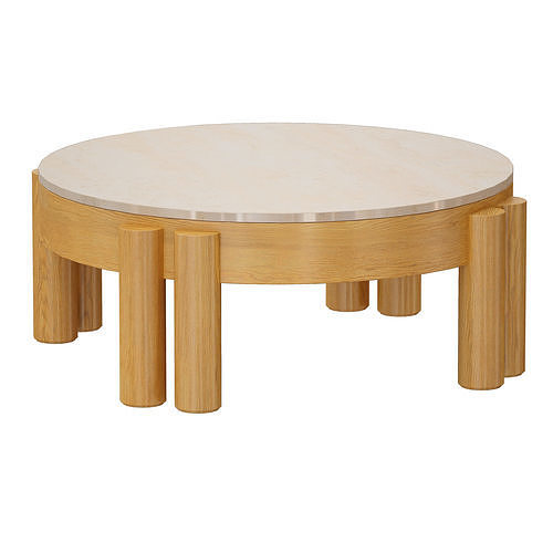 Oasis Round Wood Coffee Table Crate and Barrel