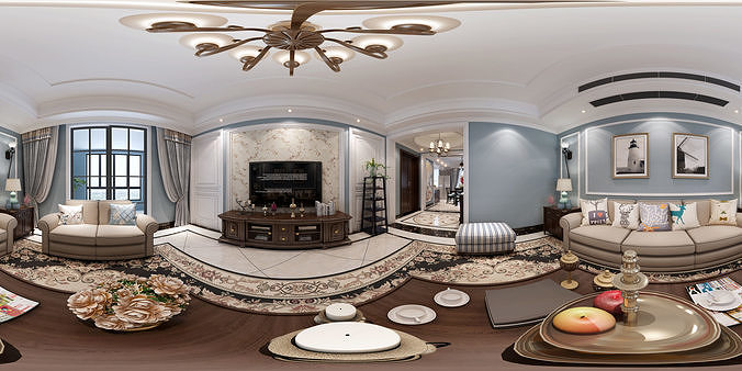 American style living room