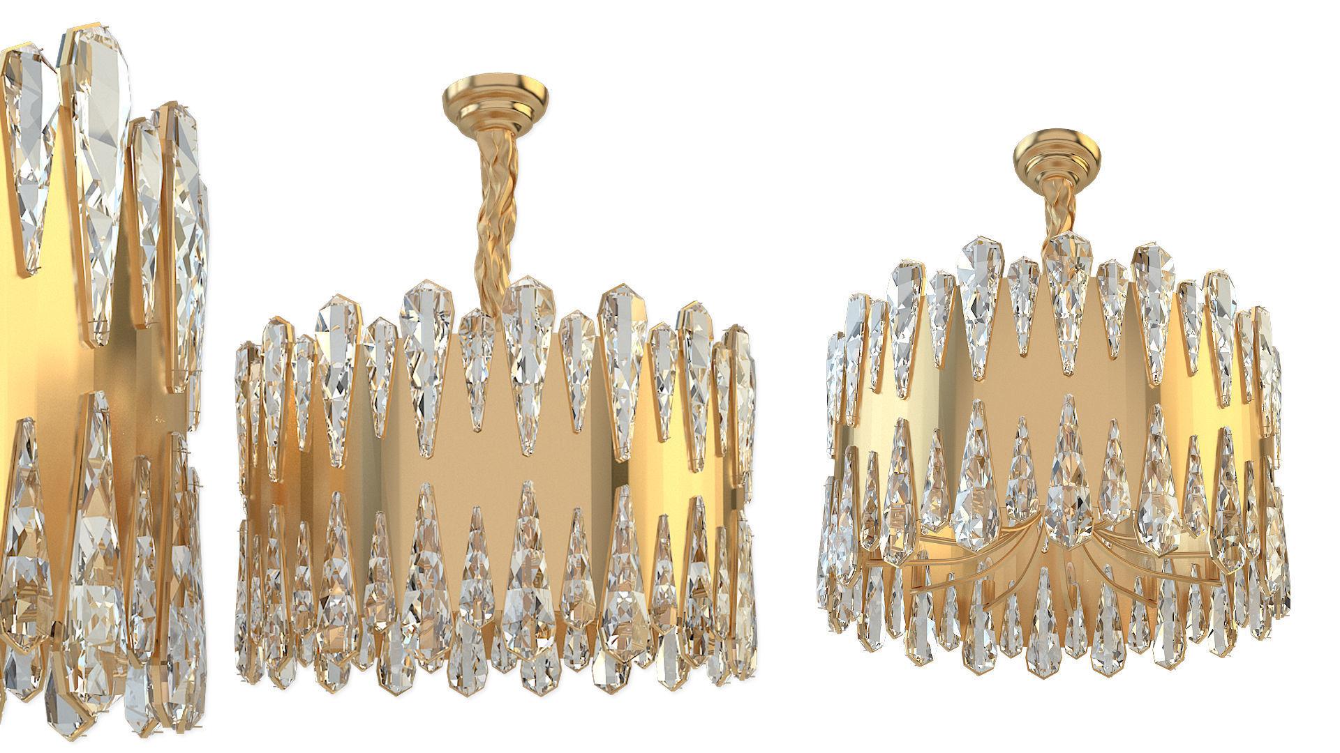 Crystal pendant lamp Ali D50
