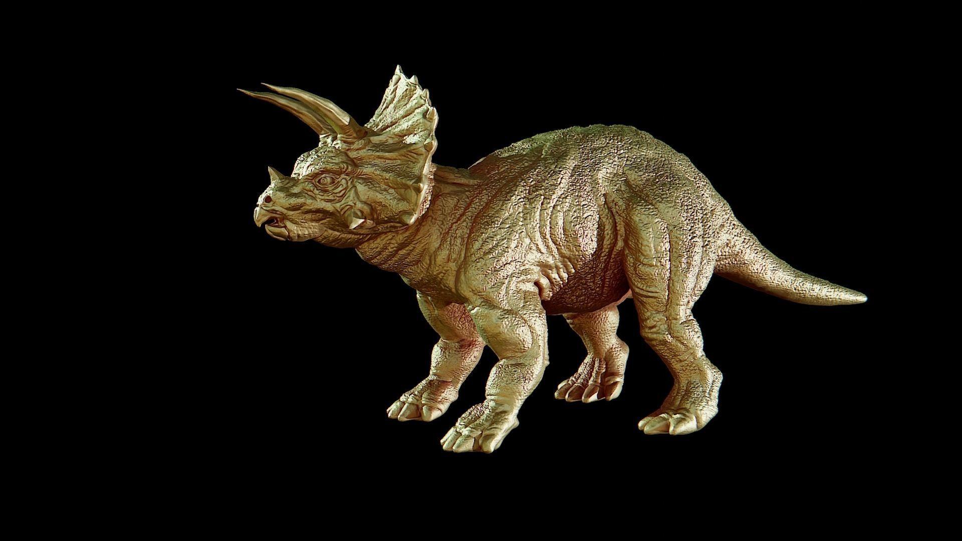 Triceratops dinosaur pendant