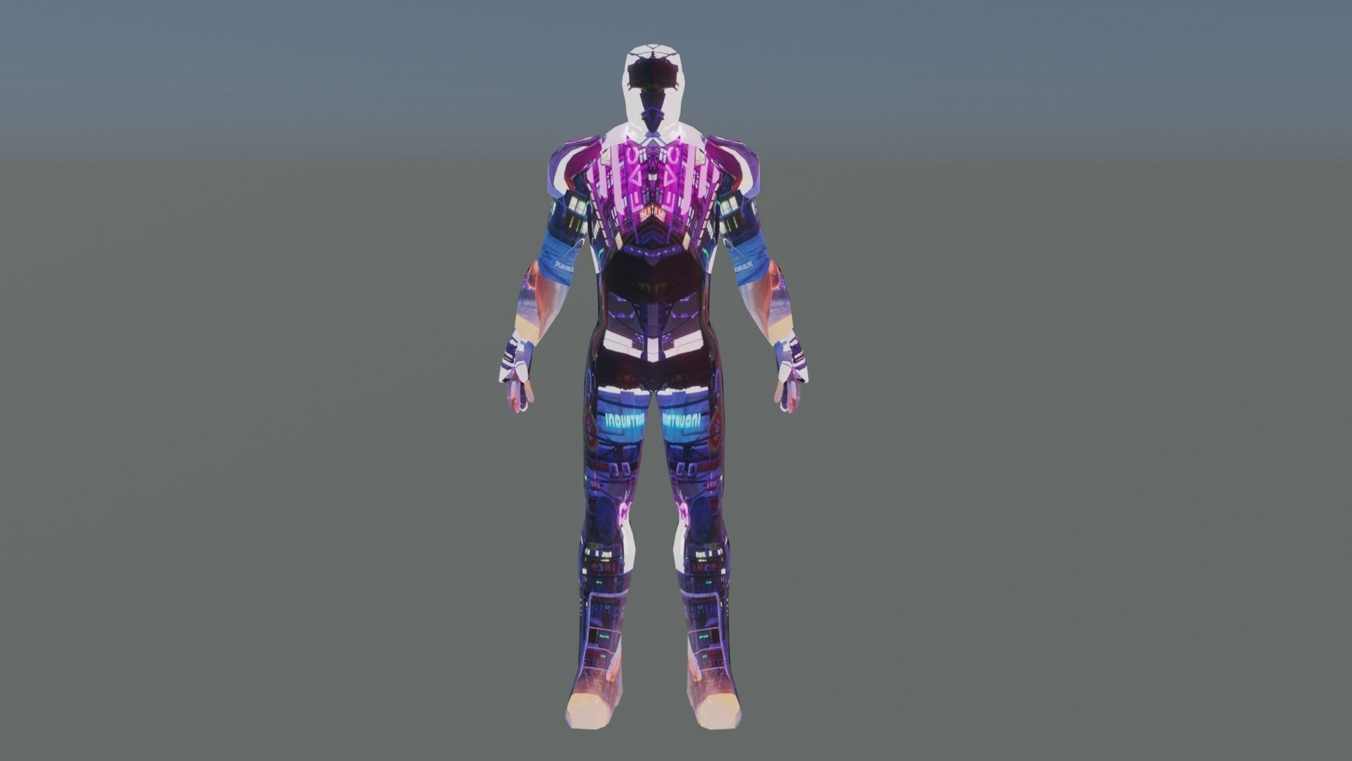 Great Iron Man 3D Model ready For Animation and Game