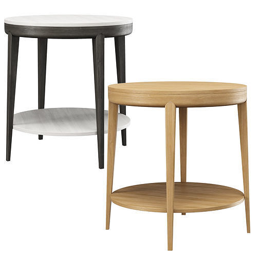 Trestle Round Side Table by HBF studio