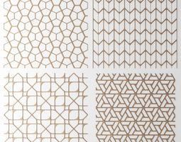 Set panel lattice grille 3D 48