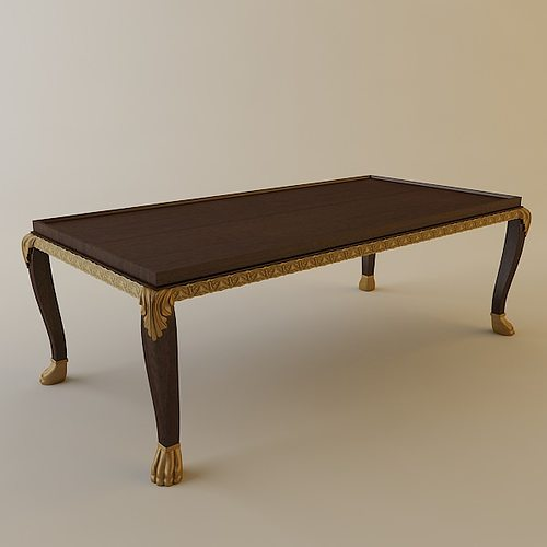 ornate coffee table 3d model cgtrader. Black Bedroom Furniture Sets. Home Design Ideas