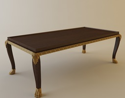 Ornate Coffee Table 3D Model