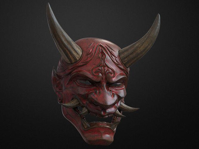Traditional Japanese Hannya Mask Oni Mask Samurai Mask