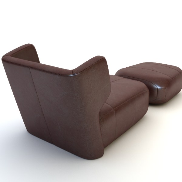 ... Etienne Baxter Italy Armless Chair Ottoman 3d Model Max Obj 3ds Fbx Mtl  Unitypackage 4 ...