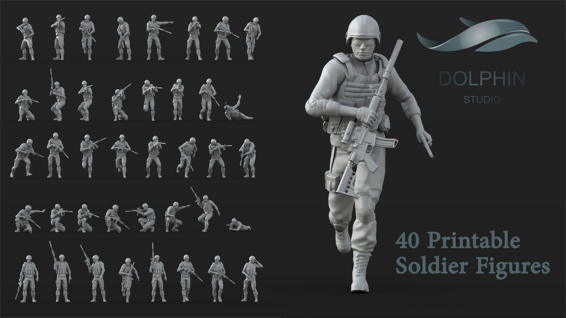 40 US Marines Soldier figures
