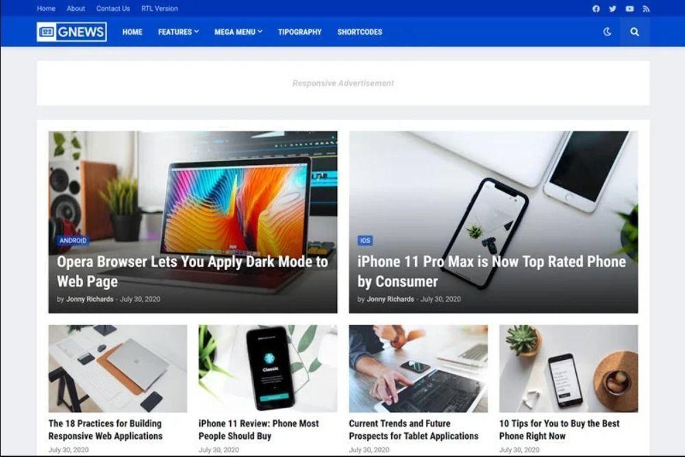 GNews - Magazine Blogger Template