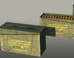 Ammo box open close 3D model
