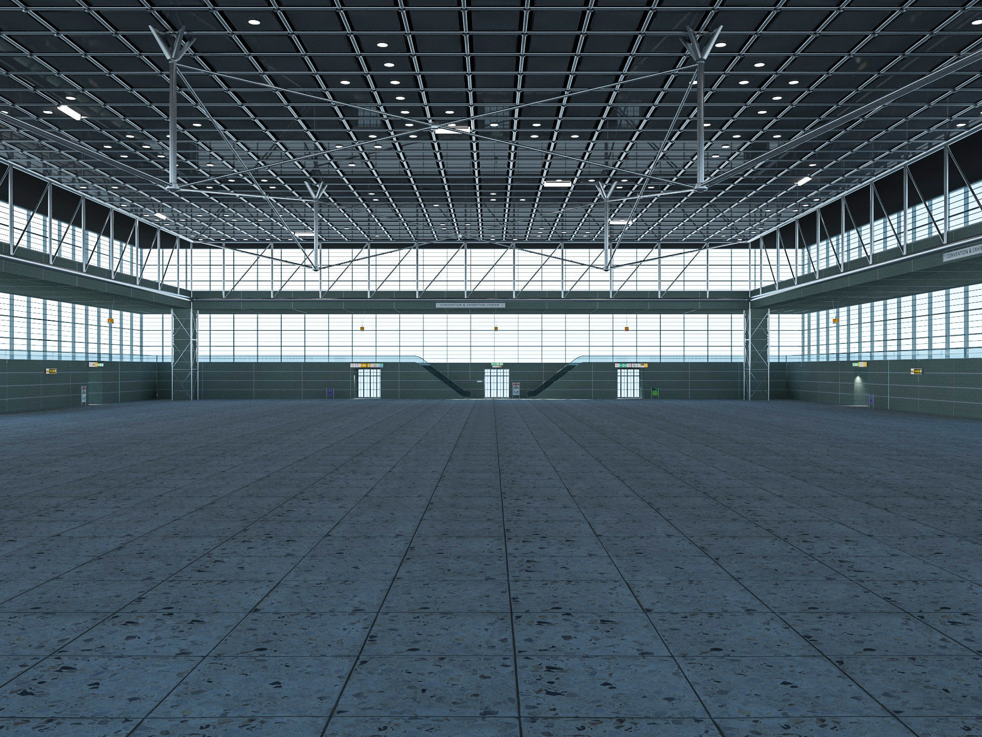 Exhibition Hall interior and exterior 23