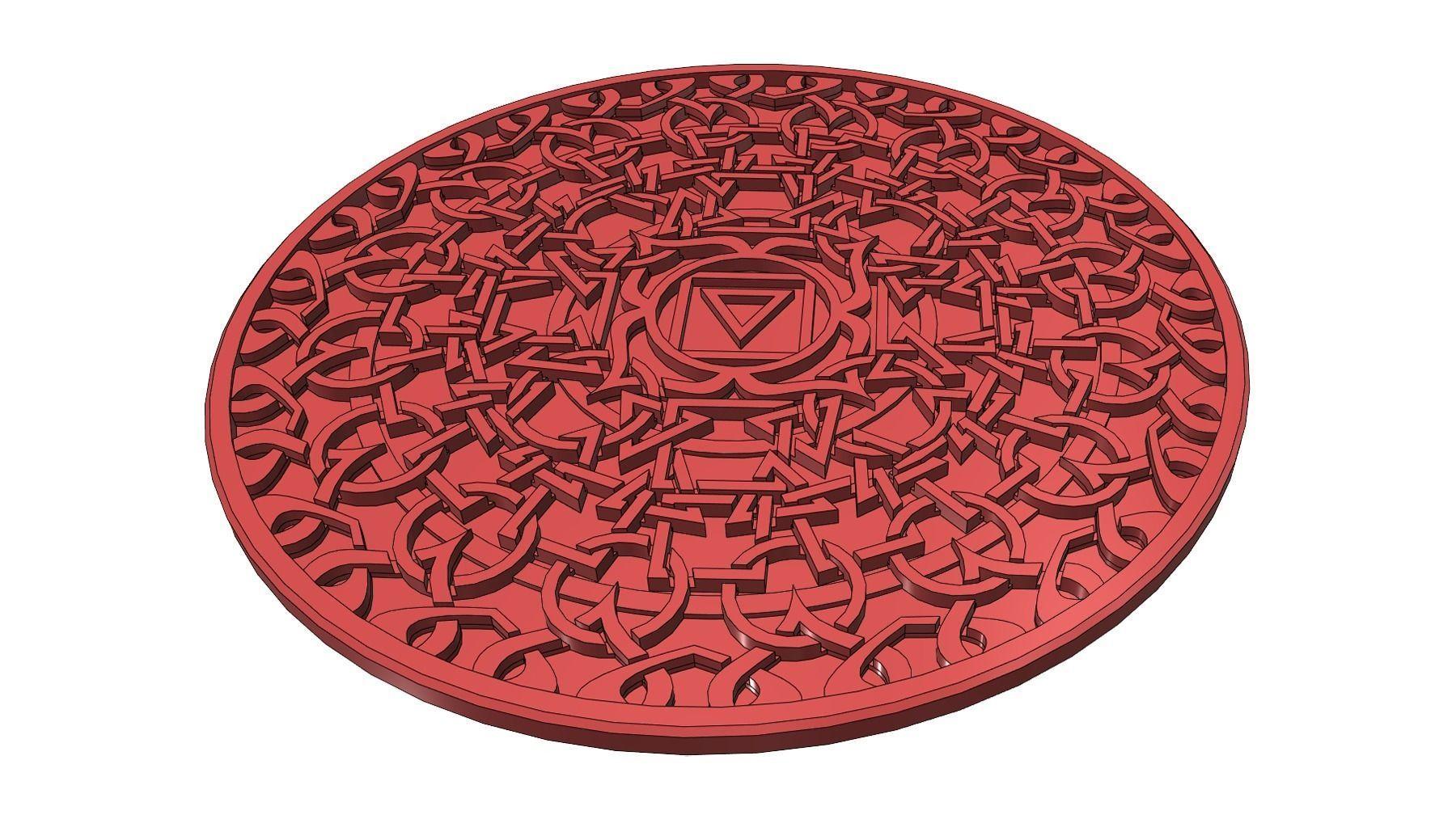 Earth Chakra Coaster