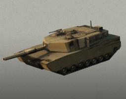 3d asset m1 abram tank game-ready