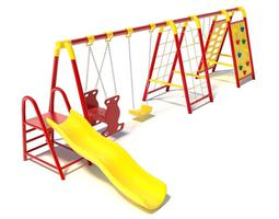 childern s swingset with climbing area 3d