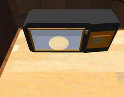 Microwave 3D asset