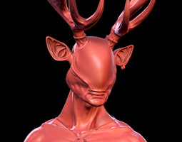 Hern - mythical humanoid creature 3D Model