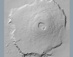 3d olympus mons accurate scale