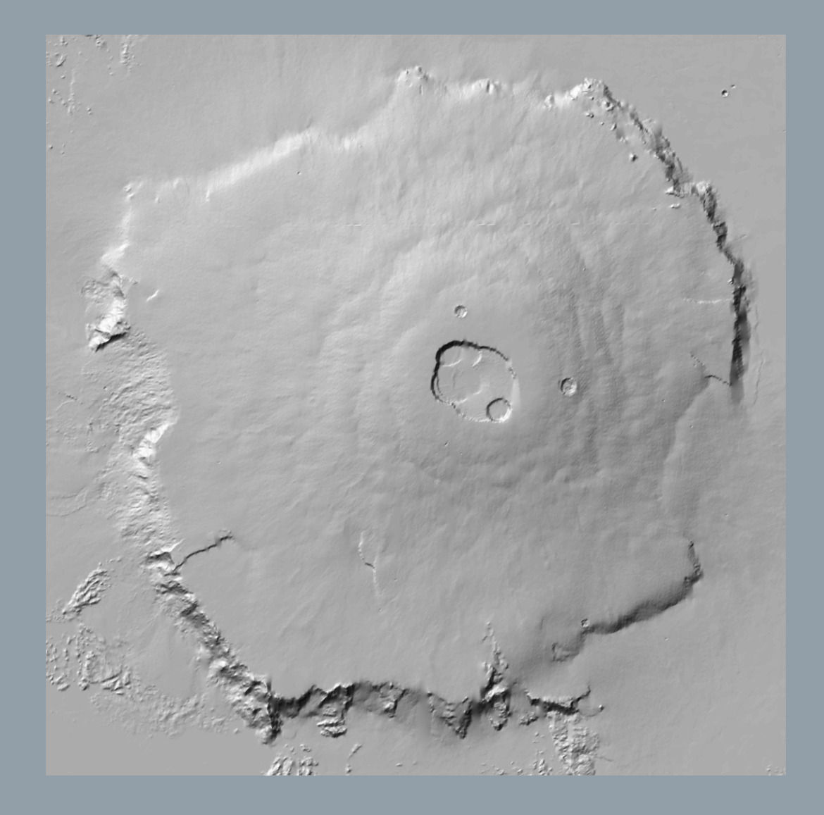 Olympus Mons Accurate Scale
