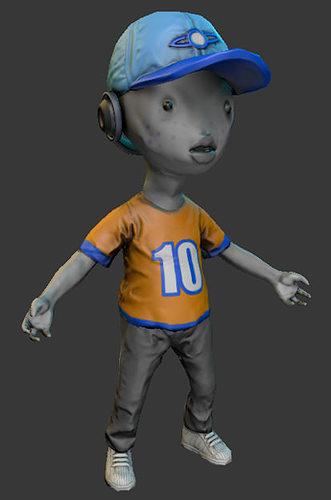 alien kid 3d model obj blend 1