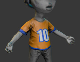 Alien Kid 3D Model