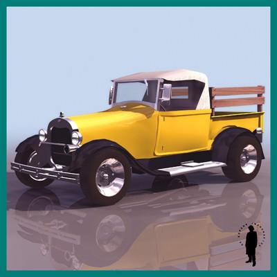 Ford 29 pickup 3d model