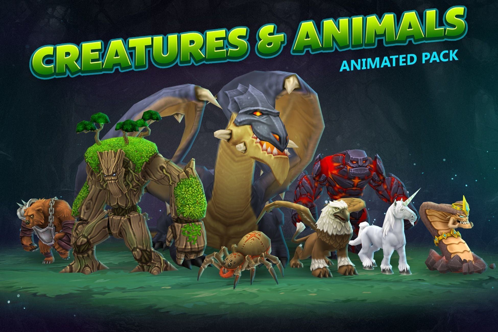 Creatures and animals animated pack
