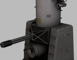 phalanx ciws 3d asset game-ready