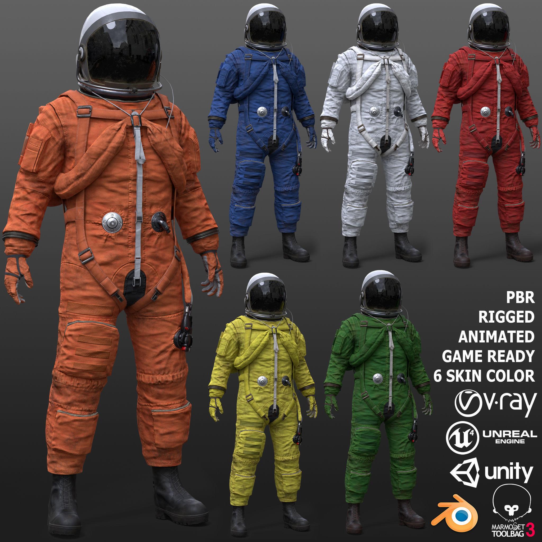 CS02 Male Space Suit FULL VERSION