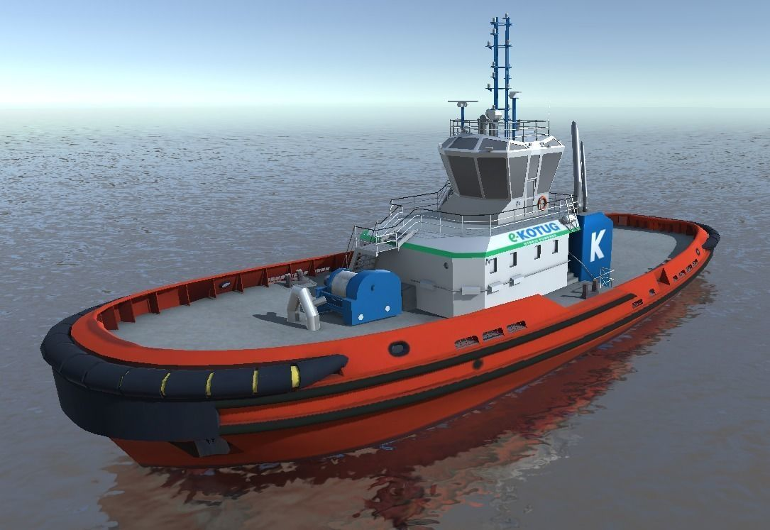E-KOTUG tug low-poly 3d model