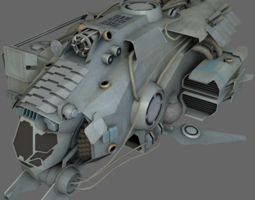gas harvester ms low-poly 3d asset