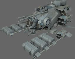 realtime mining ship ms 3d model
