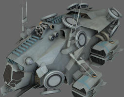 Stealth Recon Ship MS 3D Model