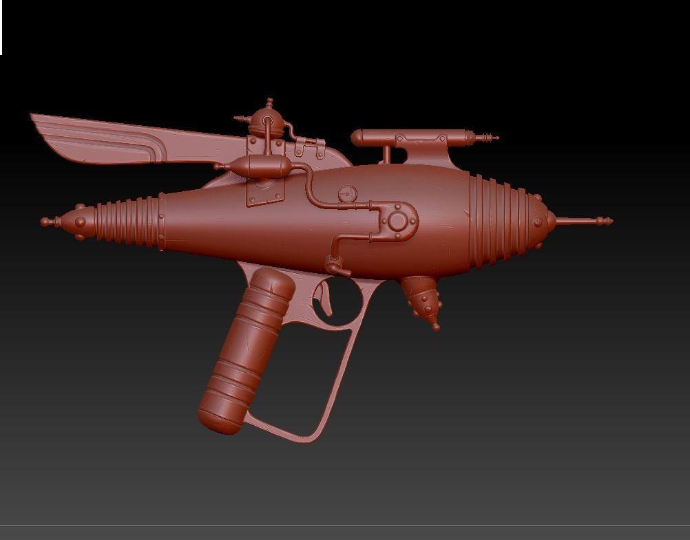 Retro Raygun For Print