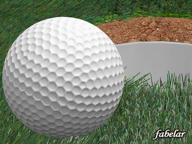 golf ball 3d model max stl 1