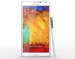 smartphone Samsung Galaxy Note 3 White 3D