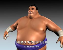 3d asset sumo wrestler VR / AR ready