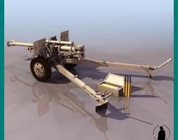 105 MM FIELD HOWITZER 3D Model