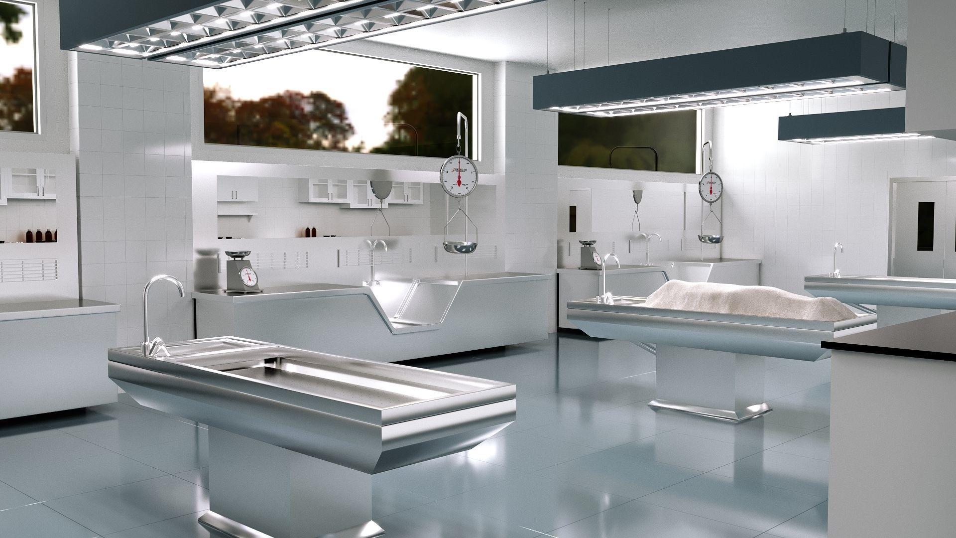 Autopsy Morgue Laboratory 3D model