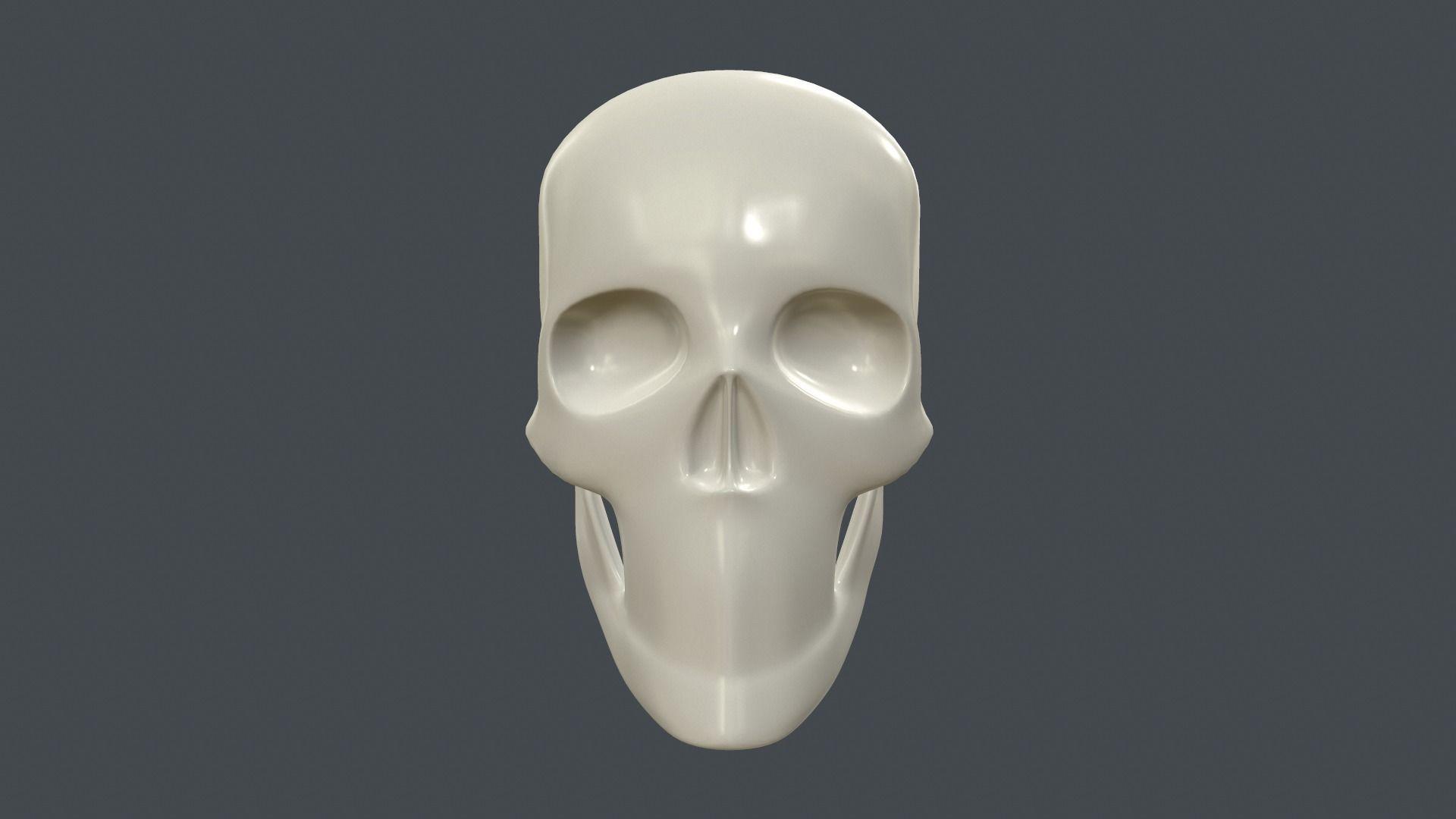 Stylized 3D model of a human skull