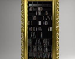 Entertainment Center VISMARA cd dvd shelves 3D Model